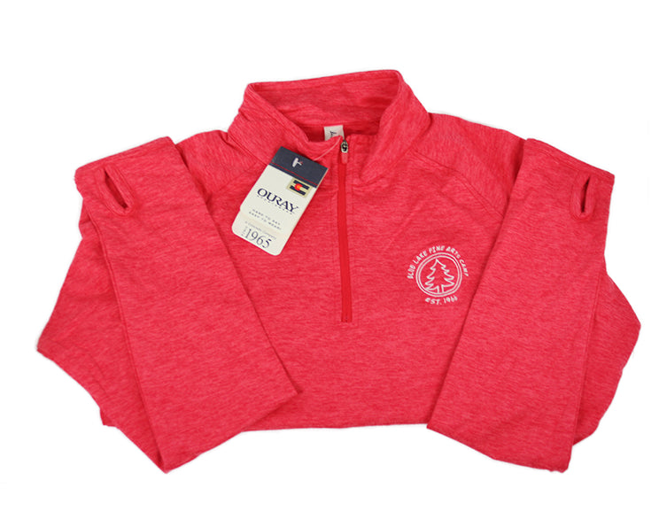 """Rapoport"" - Swerve 1/4-Zip Athletic Pullover (Red)"
