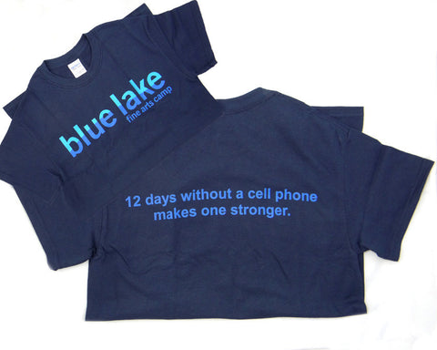 "Sayings Tees - ""12 days without a cell phone makes one stronger"" (Youth)"