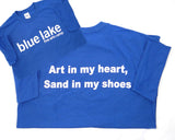 "Sayings Tees - ""Art in my heart, Sand in my shoes"""