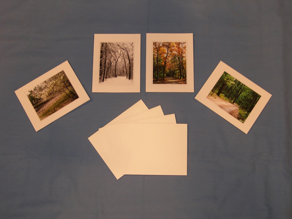 "Set of 4 ""Seasons of Blue Lake"" Note Cards"