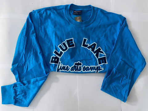 """Hayes Blue"" - Classic Retro Long-Sleeve Tee"