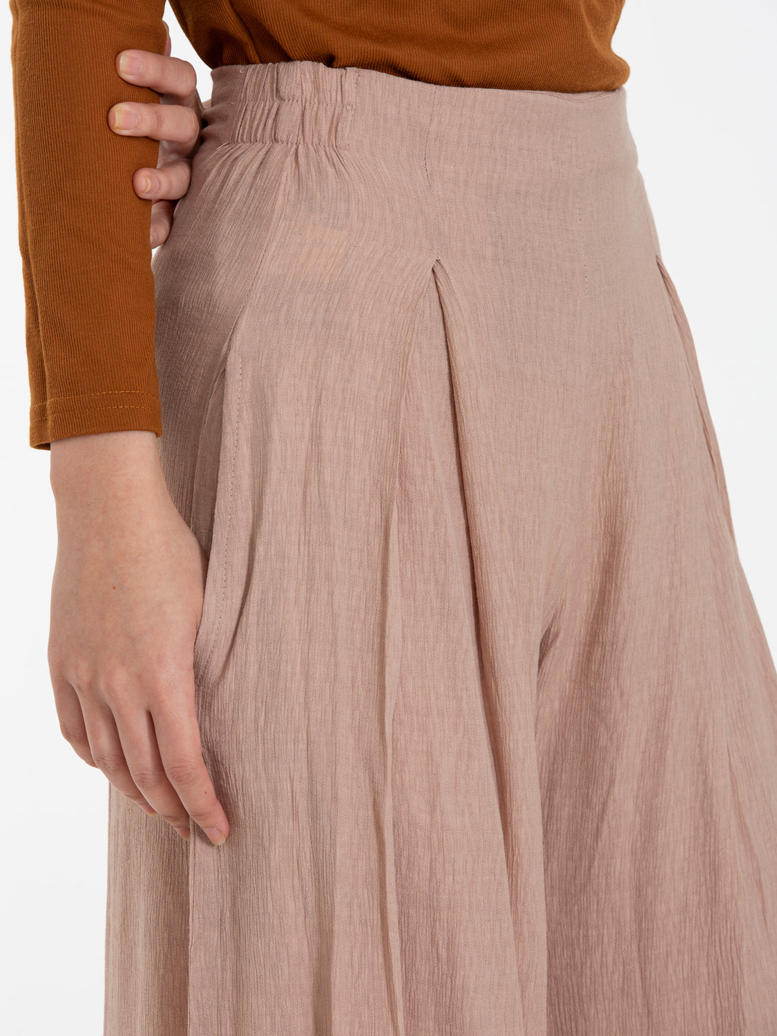 Women: Lilit Wide Leg Pants (Peach)