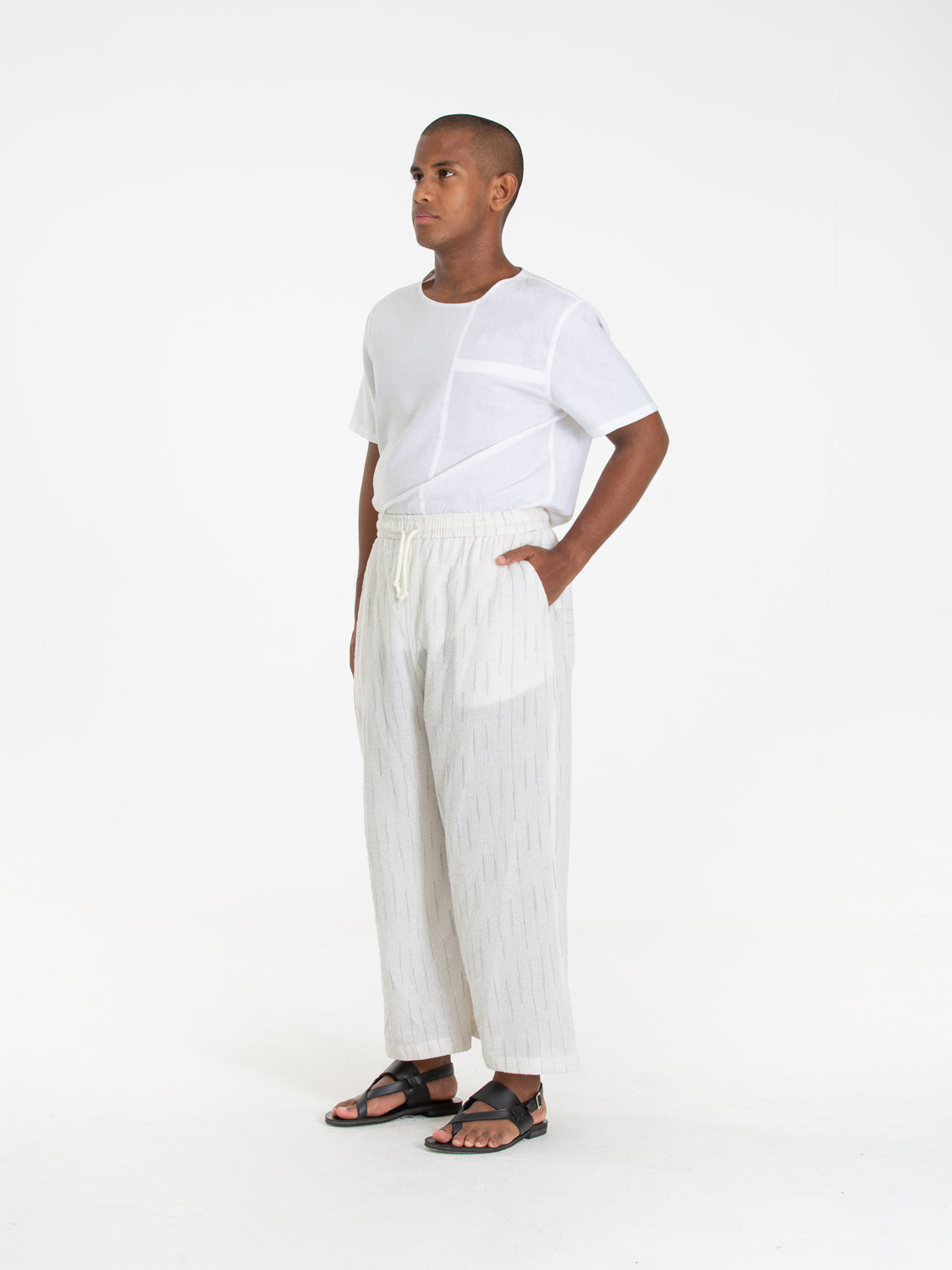 Unisex: Umbi Slip-on Pants (White)