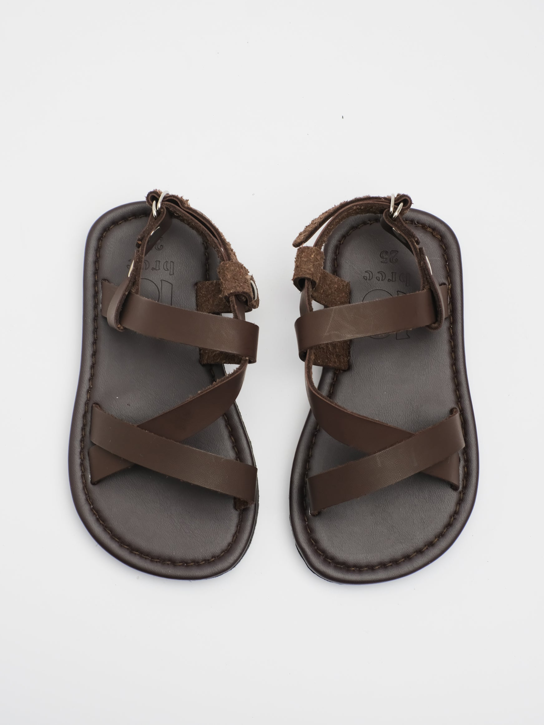 KIDS: FIN STRAP SANDAL (BROWN)