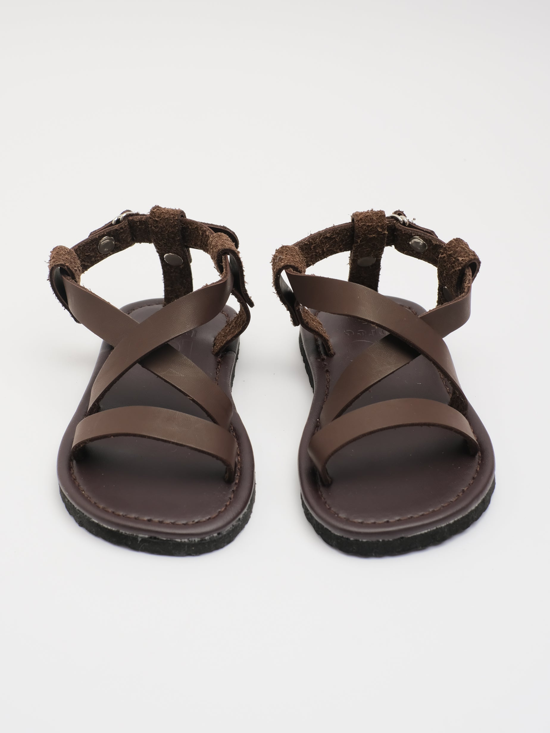 KIDS: SKY STRAP SANDAL (BROWN)