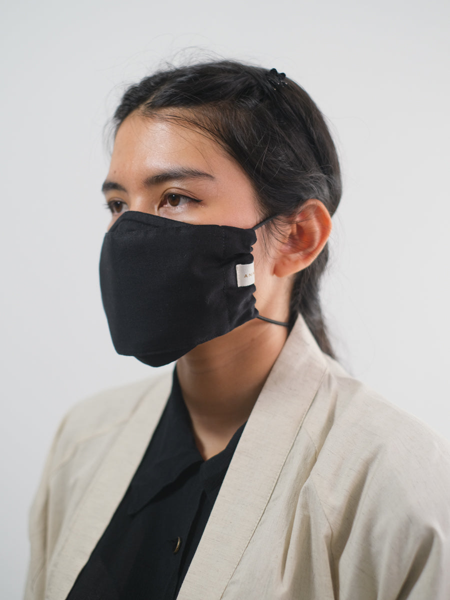 Adjustable Loop Mask: Folded Black