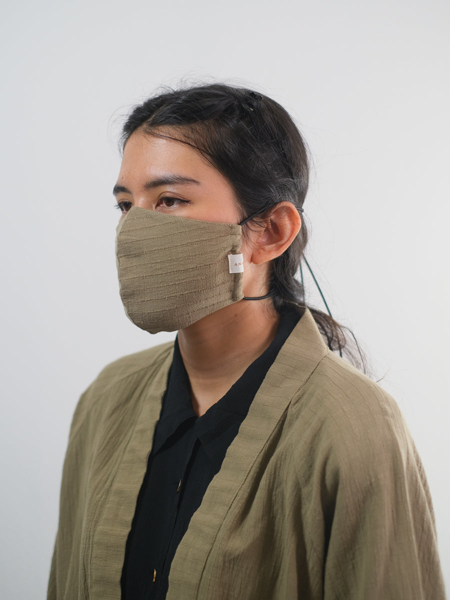 Adjustable Loop Mask: Textured Olive