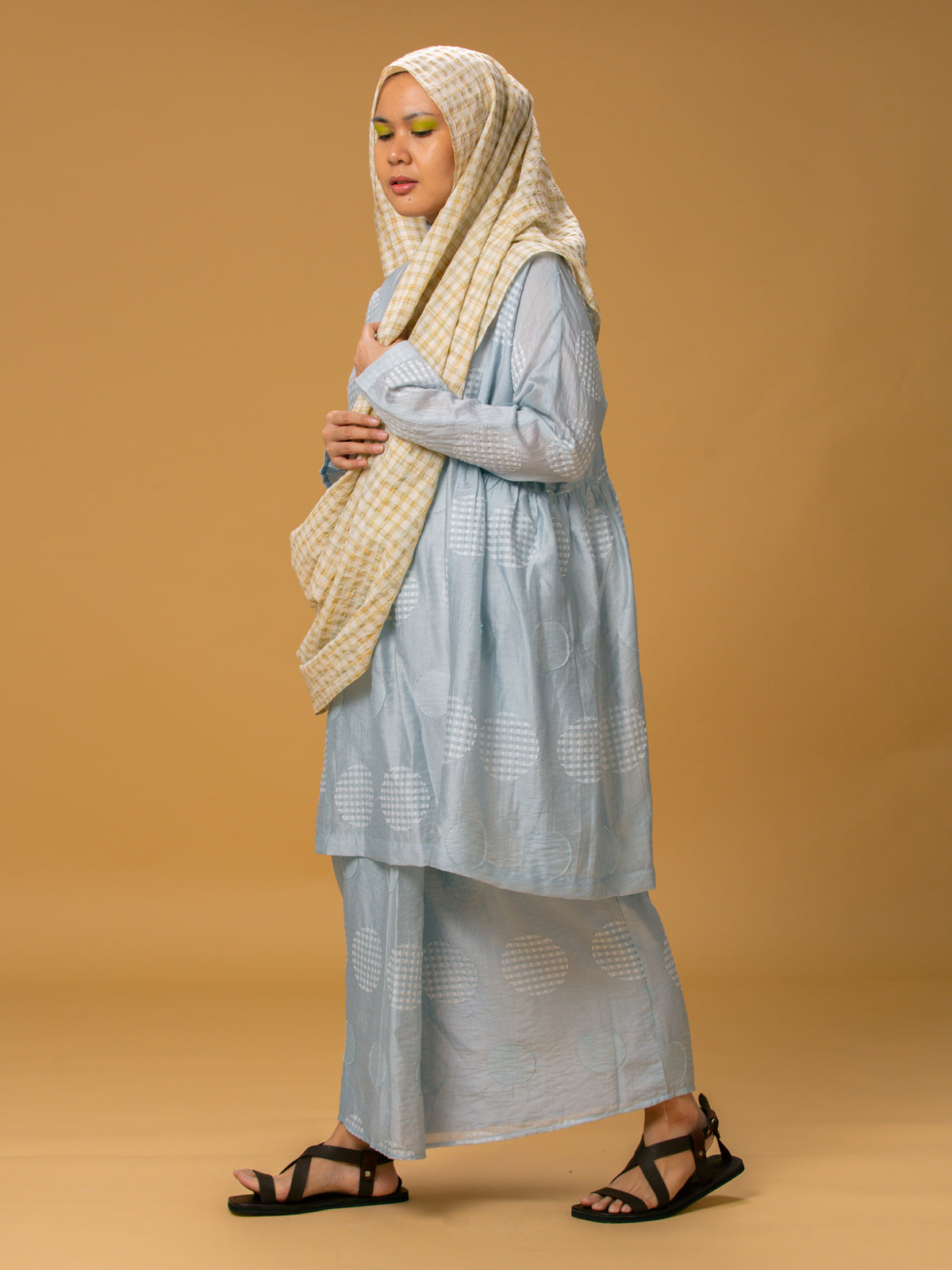Women: Embun Silk Kurung Set (Sky Blue)