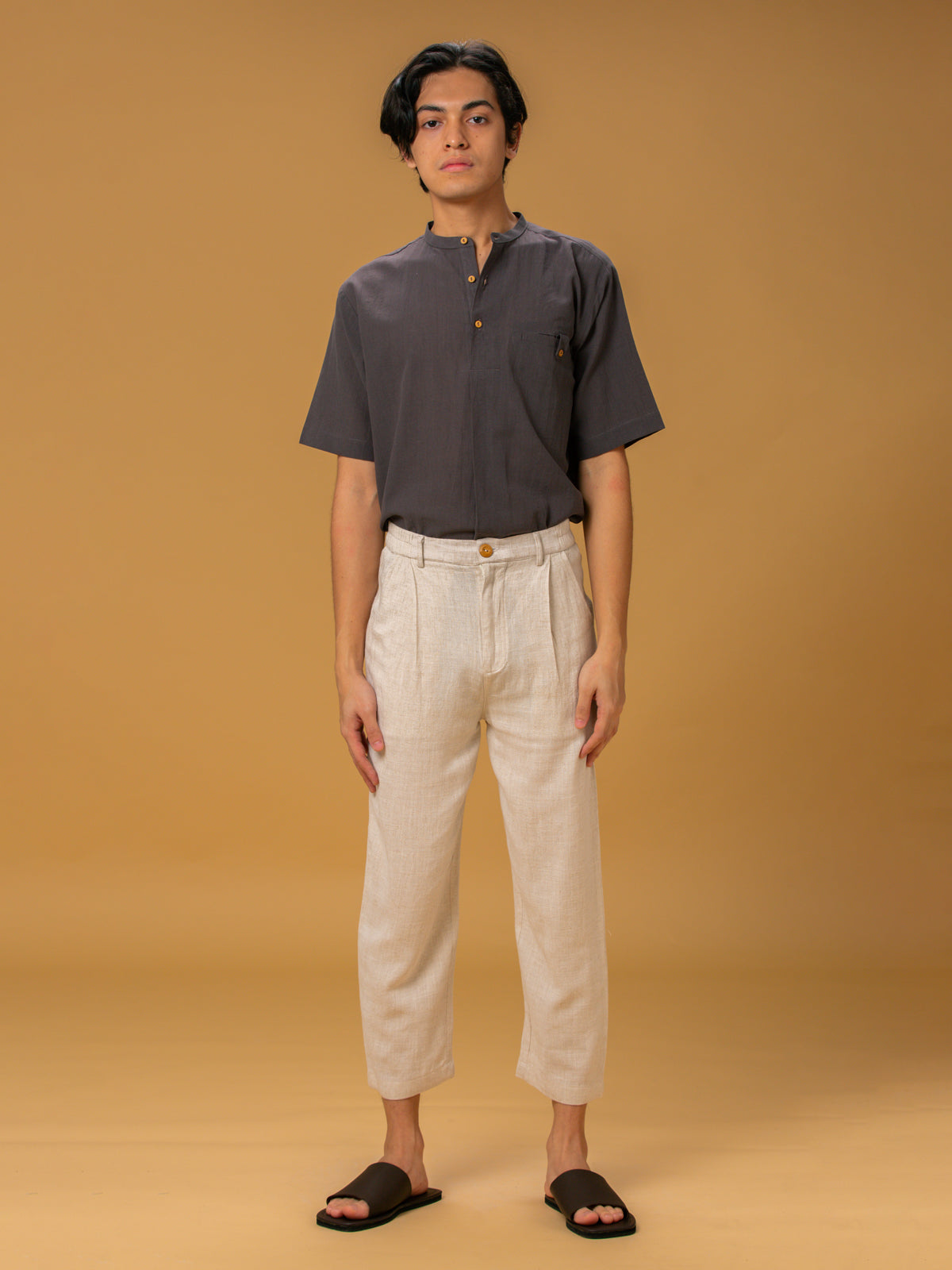 Unisex: Desir Tapered Pants (Sand)