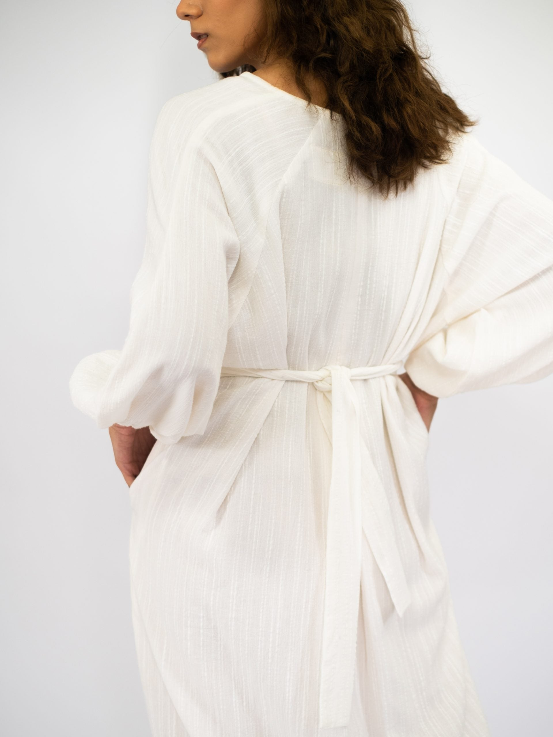 Women: Irama Crinkled Dress (Off-White)