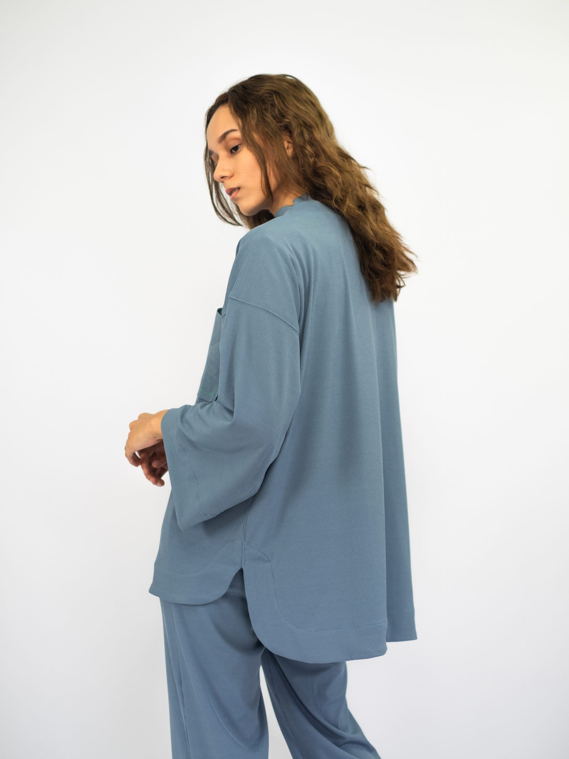 Women: Nyaman Loose Top (Dusty Blue)