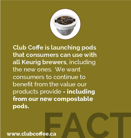 FACT - Club Coffee's Pods Work In Keurig 2.0