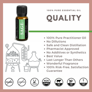 Sage Essential Oil 3 Dram / 10 mL