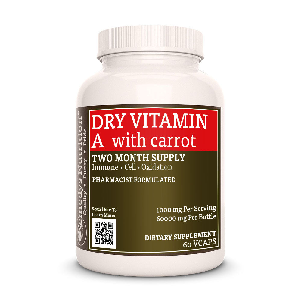 Dry Vitamin A with Carrot Capsules