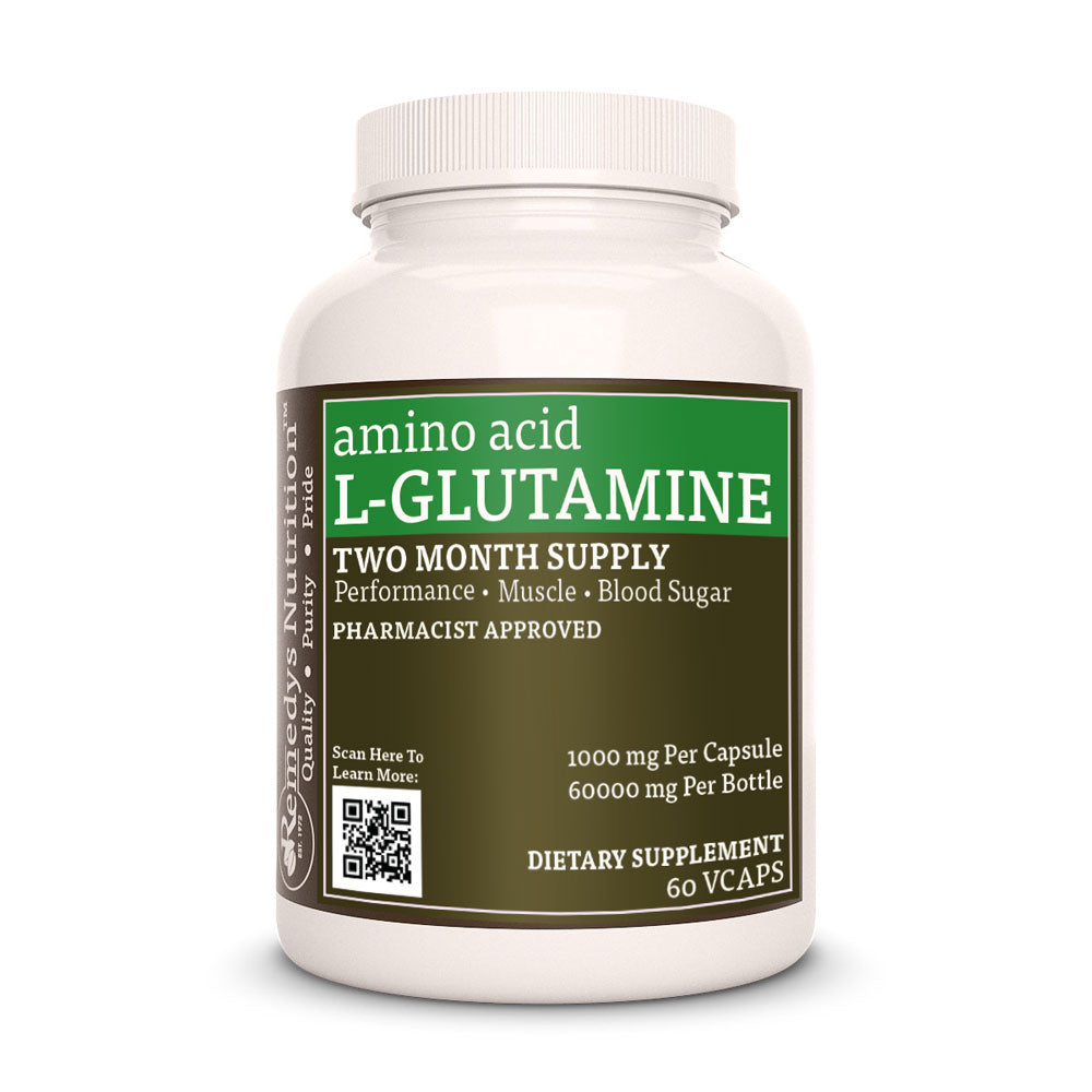 Remedy's Nutrition® L-Glutamine 1000 mg Capsules