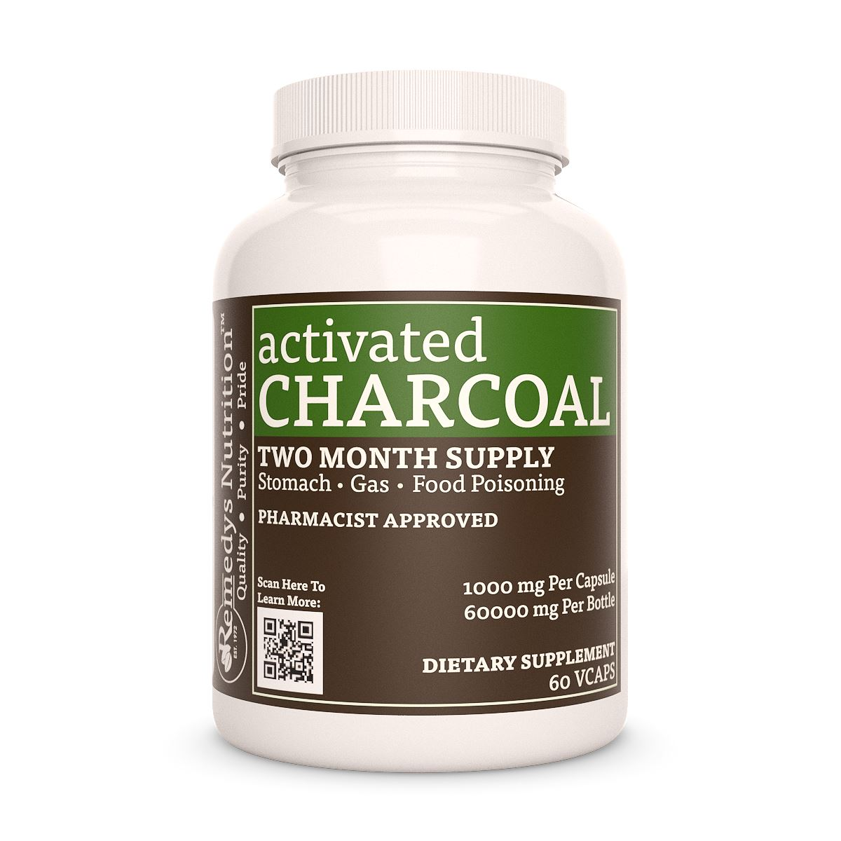Activated Charcoal Capsules (Activated Carbon)