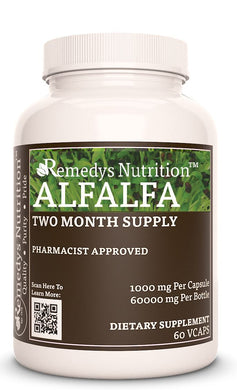Alfalfa (Agrimonia Eupatoria) 60 VCap Supplement Remedy's Nutrition