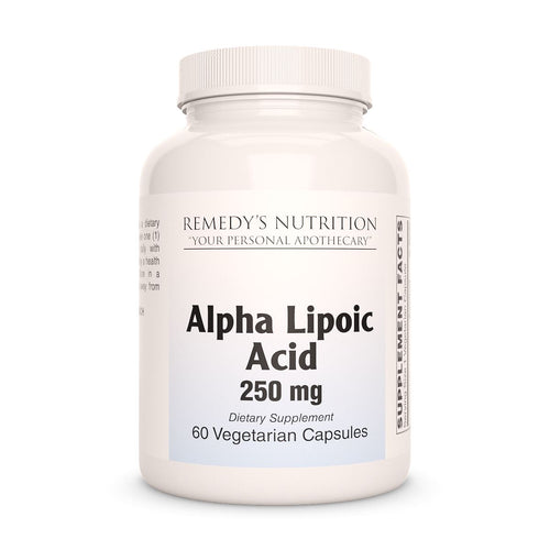 Alpha Lipoic Acid Supplement Remedys Nutrition