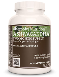 Ashwagandha (Check Supplement Facts Box for a List of Ingredients) Supplement Remedy's Nutrition