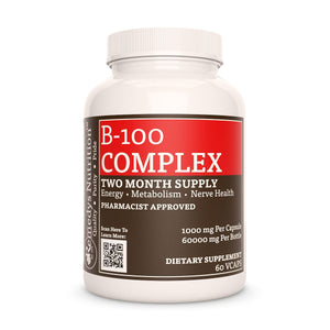 B-100 Complex Supplement Remedys Nutrition