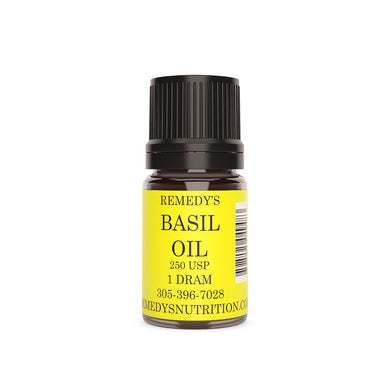 BASIL Oil 1.5 dram Remedy's Nutrition