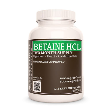 Betaine Hydrochloride Supplement Remedys Nutrition