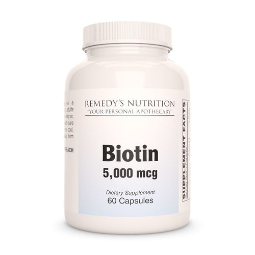 Biotin 5000 mcg Supplement Remedys Nutrition