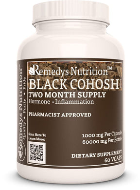 Black Cohosh (Check Supplement Facts Box for a List of Ingredients) Supplement Remedys Nutrition