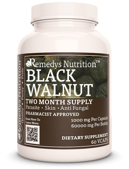 Black Walnut Hulls - Source of Naturally Occurring Iodine Supplement Remedys Nutrition
