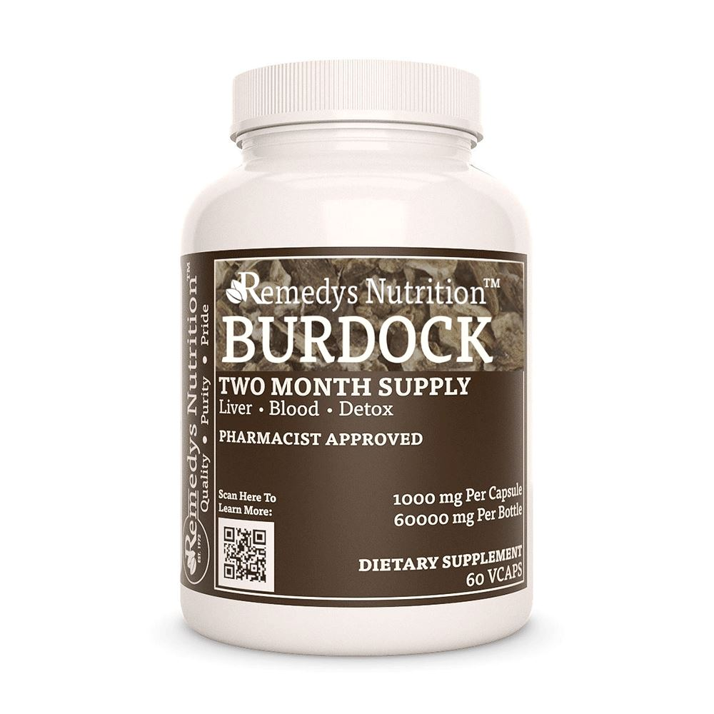 Burdock Root (Arctium lappa) Supplement Remedys Nutrition
