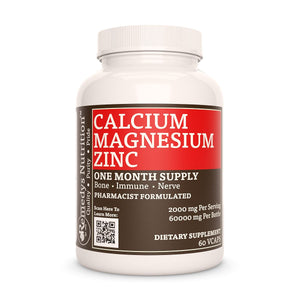 Calcium Magnesium Zinc (2:1)™(Check Supplement Facts Box for a List of Organic Ingredients) Supplement Remedys Nutrition