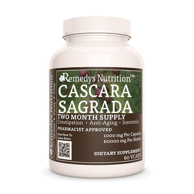 Cascara Sagrada Supplement Remedys Nutrition