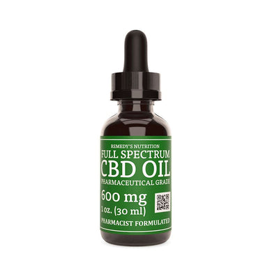 CBD 600 mg FULL SPECTRUM Remedy's Nutrition