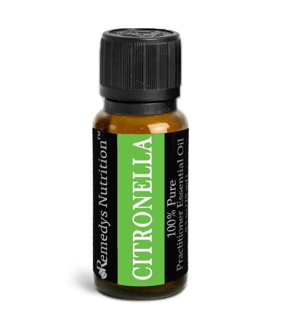 Citronella Essential Oil 3 Dram / 10 mL Personal Care Remedy's Nutrition