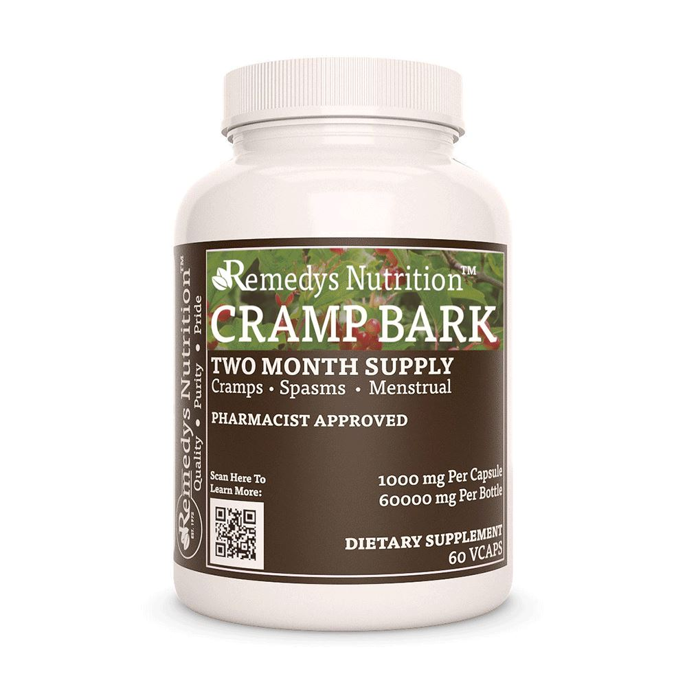 Cramp Bark Supplement Remedy's Nutrition