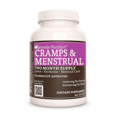 Cramp & Menstrual Support™ Supplement Remedy's Nutrition