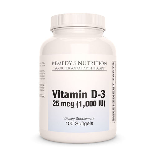 D-3 1000 i.u. Supplement Remedy's Nutrition