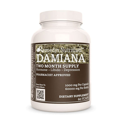 Damiana (Turnera diffusa) Supplement Remedys Nutrition