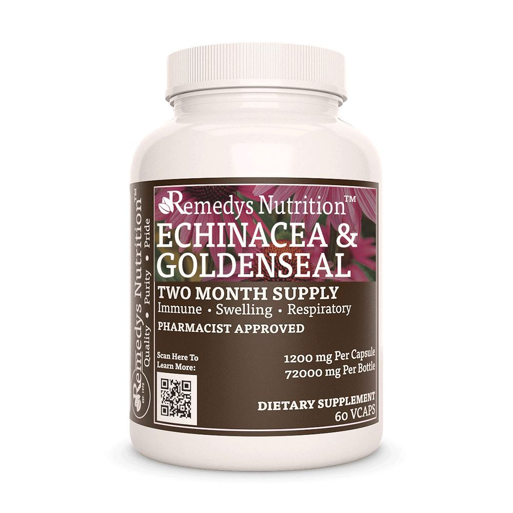 Echinacea Purpurea & Goldenseal Supplement Remedys Nutrition