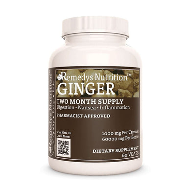 Ginger Root Supplement Remedy's Nutrition