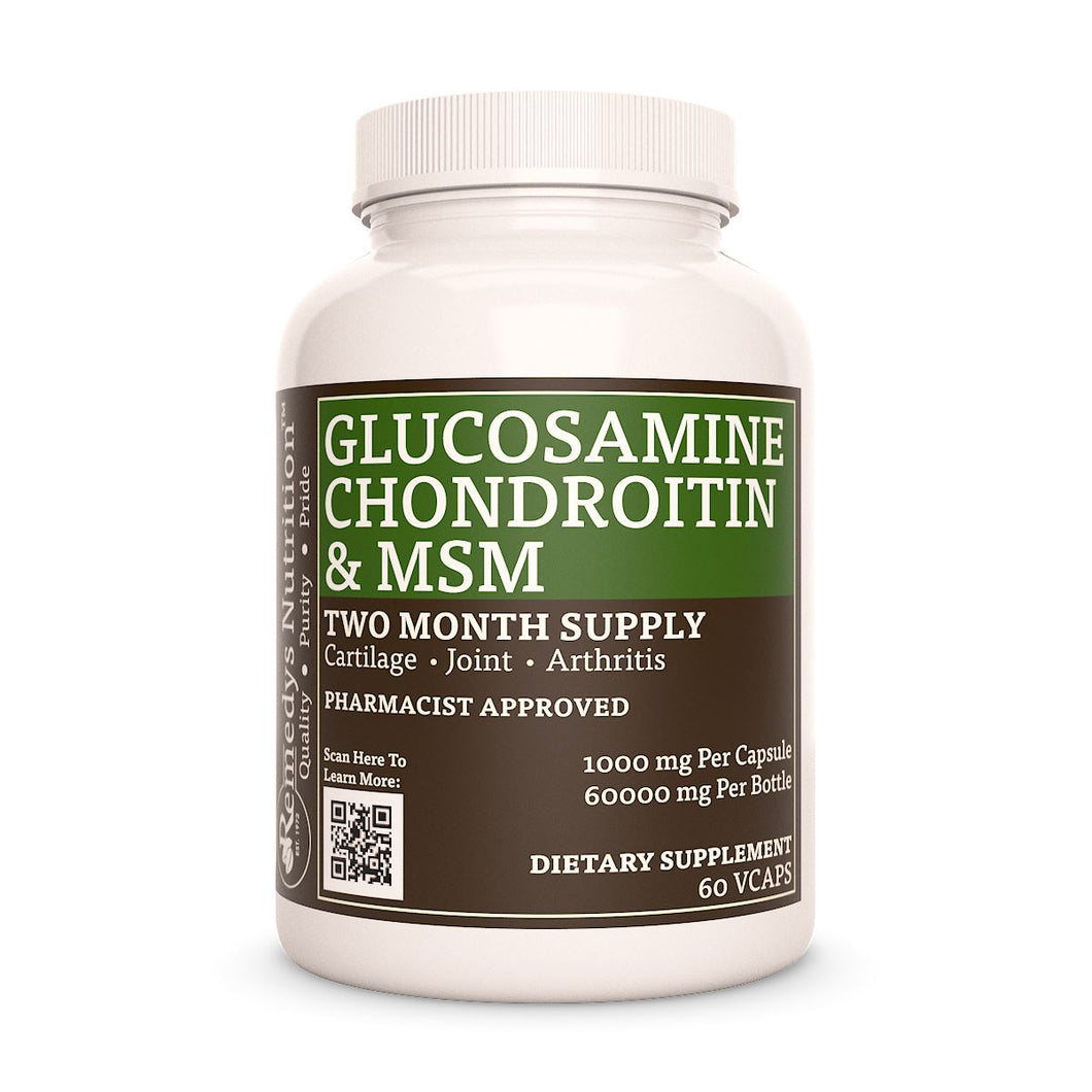 Glucosamine Chondroitin and MSM Supplement Remedy's Nutrition