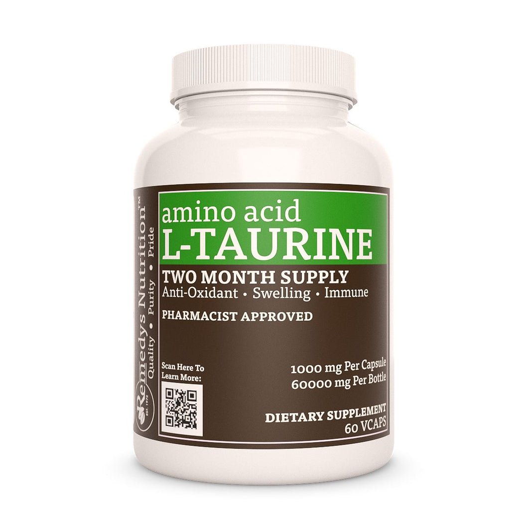 L-Taurine Supplement Remedy's Nutrition