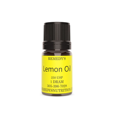 LEMON Essential Oil 1.5 DRAM Personal Care Remedy's Nutrition
