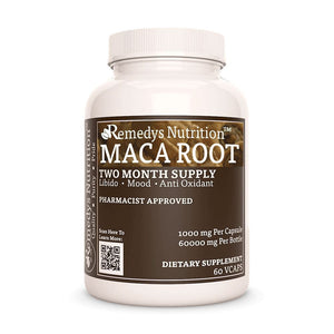 Maca Root (Lepidium meyenii) Supplement Remedy's Nutrition