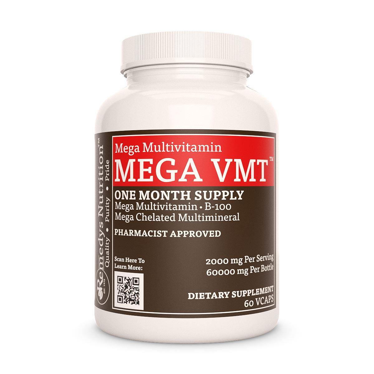 Remedy's Nutrition® Mega VMT™ | High Dose Daily Multivitamin Capsules
