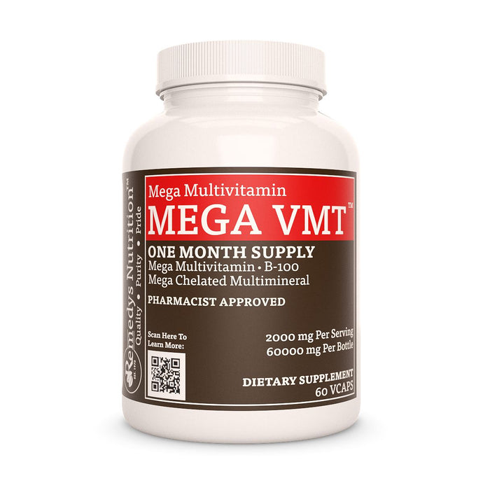 Mega VMT | High Dose Daily Multivitamin Supplement Remedy's Nutrition