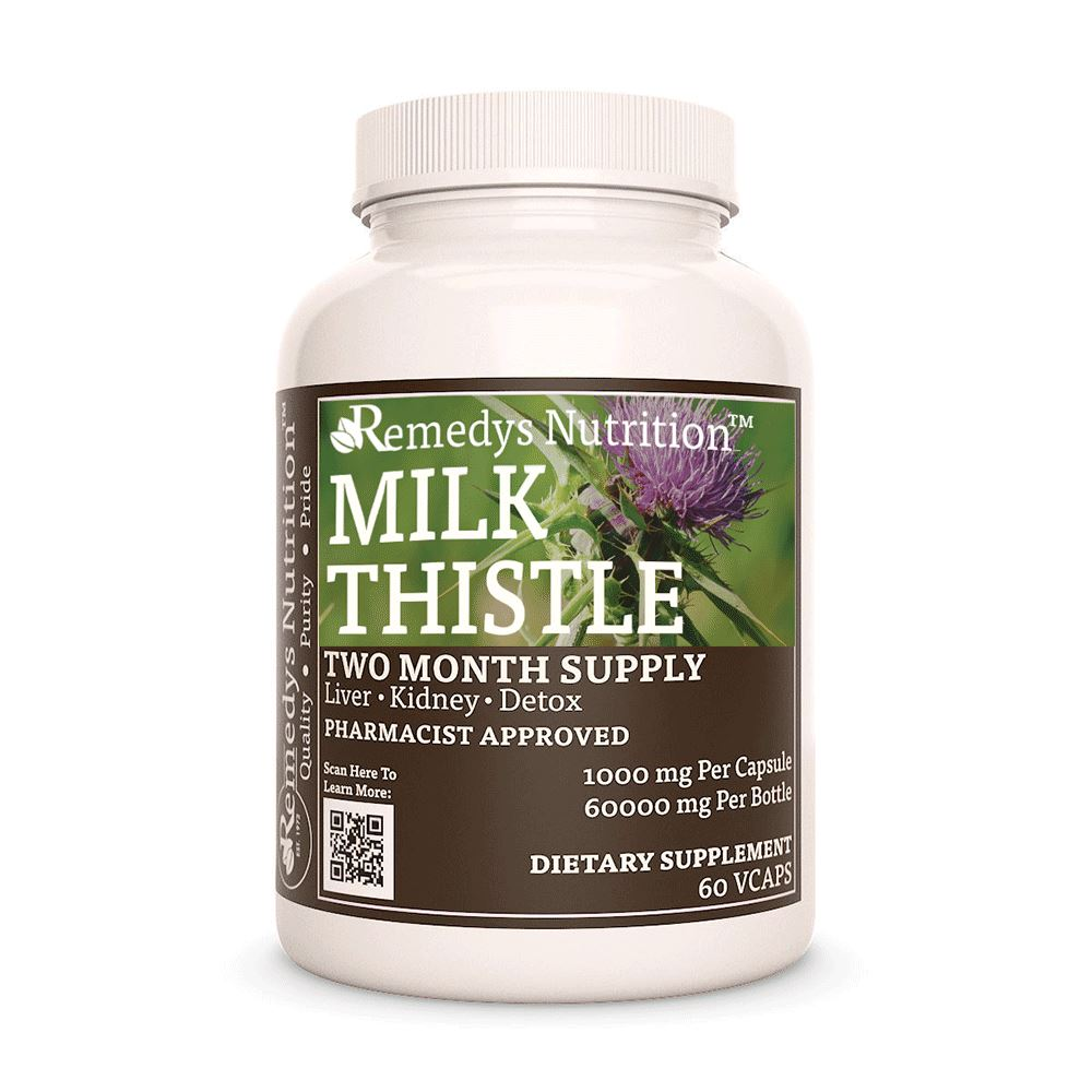 Milk Thistle Supplement Remedys Nutrition