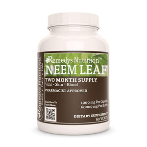 Neem Leaf Supplement Remedy's Nutrition