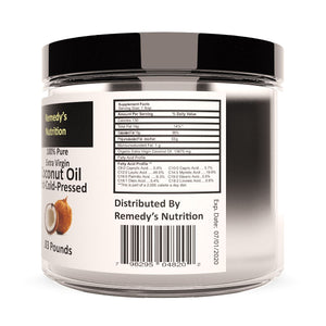 Raw Coconut Oil 16 oz (Check Supplement Facts Box for a List of Organic Ingredients) Personal Care Remedy's Nutrition