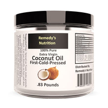 Load image into Gallery viewer, Raw Coconut Oil 16 oz (Check Supplement Facts Box for a List of Organic Ingredients) Personal Care Remedy's Nutrition